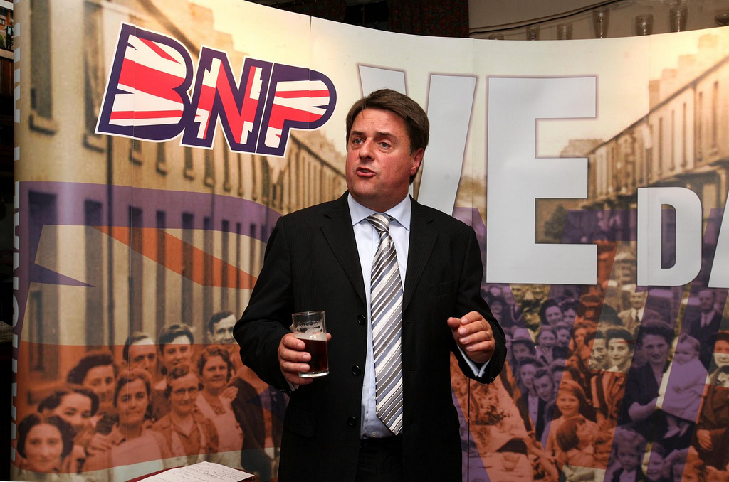 Nick Griffin holding a press conference: TRUE STORIES - THE BATTLE FOR BARKING