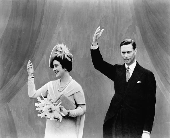 King George VI and Queen Elizabeth in 1939.