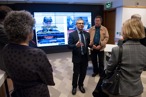 Launch of the Newsroom at The British Library.28.4.14