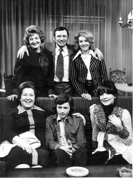 The cast of the Yugoslav television series Theatre in the House, 1973. Photo courtesy of the Television Belgrade Programme Archive.