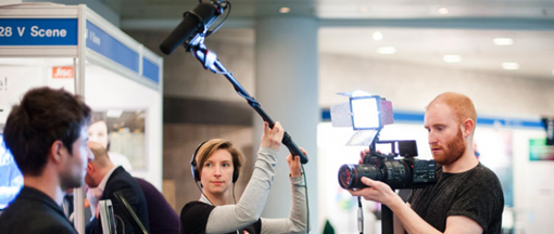 Filming at Jisc Digital Festival ©Jisc and Matt Lincoln / CC BY-NC-ND