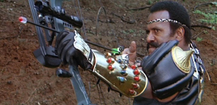 Fred 'The Hammer' Williamson in Enzo G. Castellari's The New Barbarians (1983). Image courtesy of Shameless Films.